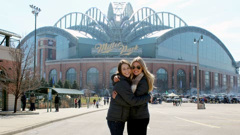 Chyna & Sage are happy to be back at Miller Park cheering on the Brewers.