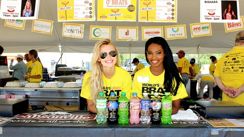 Only in Wisconsin can you get a FOX Sports Girl to serve you a brat (while raising money for charity)!