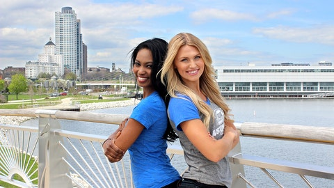 The Milwaukee skyline & lakefront serve as the perfect backdrop for the FOX Sports Wisconsin Girls' new promos.