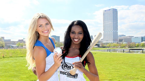 The FOX Sports Wisconsin Girls soak up the sunshine before heading home to cheer on the Brew Crew.