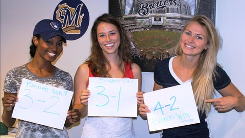 They may not have gotten the score right, but the FOX Sports Wisconsin Girls predicted the Brewers win!