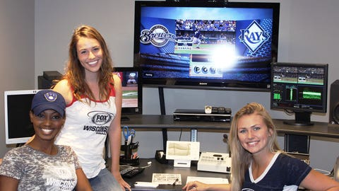 Bishara, Sage and Chyna cheered on the Brewers together. We think their combined good luck helped the Crew avoid the sweep.