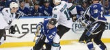Four goals from Martin St. Louis not enough as Lightning fall to Sharks