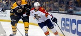 Panthers overpowered by Bruins in Tim Thomas' return to Boston