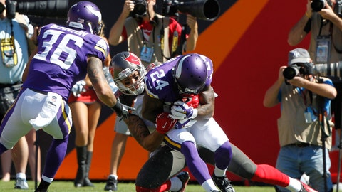 September 24: Tampa Bay Buccaneers at Minnesota Vikings, 1 p.m. ET