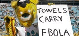 Jaguars apologize for mascot's ebola sign