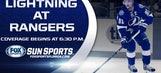 Lightning at Rangers LIVE GameTrax
