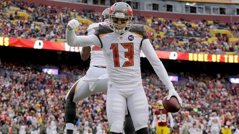 Mike Evans won't stand for Trump