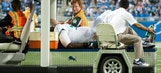 Dolphins tackle Branden Albert carted off field with knee injury