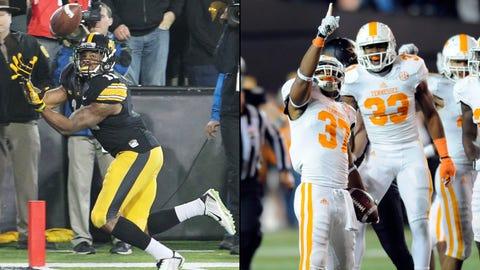 8. TaxSlayer Bowl -- Iowa vs. Tennessee (3:20 p.m., Jan. 2, Jacksonville)