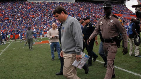 13. Will Muschamp steps down as Gators coach