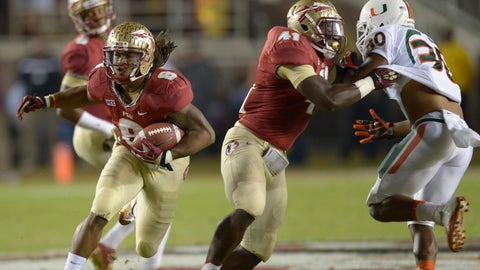 10. Florida State 41, Miami 14 -- Nov. 2, 2013