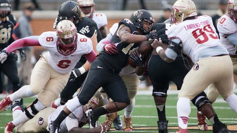 11. Florida State 59, Wake Forest 3 -- Nov. 9, 2013