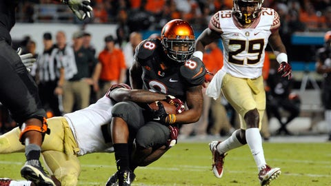 26. Florida State 30, Miami 26 -- Nov. 15, 2014
