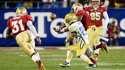 1. Florida State 21, Georgia Tech 15 (ACC Championship game) -- Dec. 1, 2012