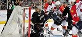 Panthers allow 4 goals in 2nd period in road loss to Ducks
