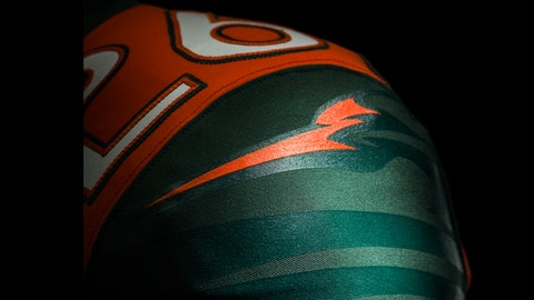 Miami Hurricanes shoulder design