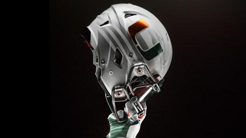 Miami Hurricanes helmet