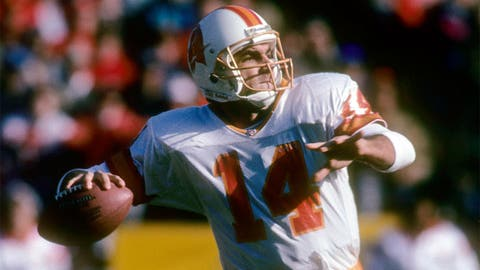 Vinny Testaverde had more INTs in six years with the Bucs than Young had in his 15-year career