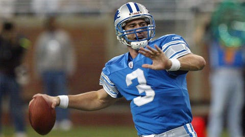 Joey Harrington (third pick, 2002, Detroit Lions)
