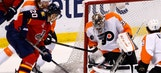 Panthers unload 40 shots but fall at home to playoff-bound Flyers