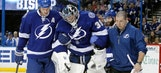 Lightning goalie Ben Bishop leaves game with upper-body injury