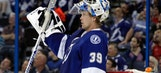 Lightning goalie Anders Lindback earns first star honors from NHL