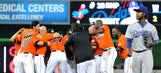 Marlins celebrate after making most of second chances