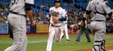 Rays snap losing skid by blanking Mariners at home