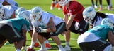 Offensive line makes strides in Dolphins scrimmage