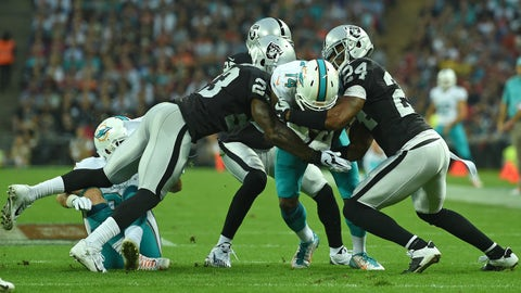 November 5: Oakland Raiders at Miami Dolphins, 8:30 p.m. ET