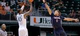Miami throws scare into No. 3 Virginia, falls in double overtime