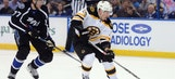 Lightning strike first but can't stop sizzling Bruins