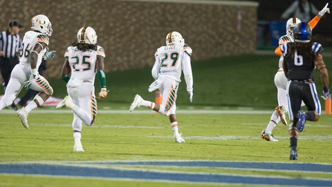 18. Miami stuns Duke on miracle return... that shouldn't have counted