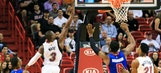 Heat miss chances to take lead late in home loss to Pistons