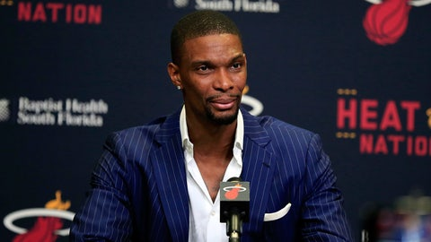 2. Chris Bosh diagnosed with blood clots