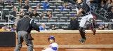 Giancarlo Stanton homers but Marlins drop opener to Mets