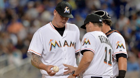 Low: Latos makes bad first impression, booed at home (4/7)