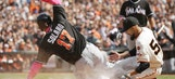 Marlins let late lead slip away, fall to Giants in 9th