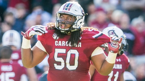 A.J. Cann, G, South Carolina, third round (No. 67 overall)