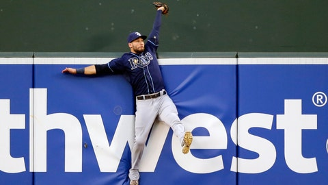 15. Tampa Bay Rays' Kevin Kiermaier wins Gold Glove and defensive player of the year