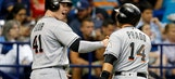 Gillespie's go ahead single in 8th lifts Marlins past Rays