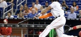 Marlins slugger Giancarlo Stanton pinch hits, singles in return to team