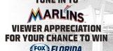 Miami Marlins viewer appreciation sweepstakes