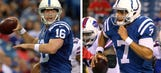 Colts' backup QBs prep for Thanksgiving action
