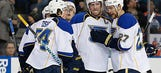 Recap: Blues top Oilers 5-2 for sixth straight win
