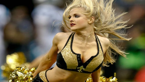 Saints cheerleaders