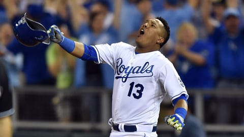 No. 1: AL Wild Card Game, Sept. 30 at Kauffman Stadium -- Royals 9, A's 8