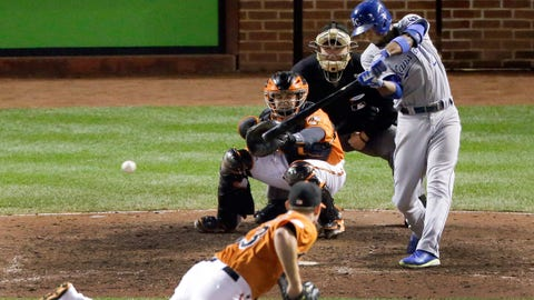 No. 8: ALCS Game 2, Oct. 11 at Baltimore -- Royals 6, Orioles 4