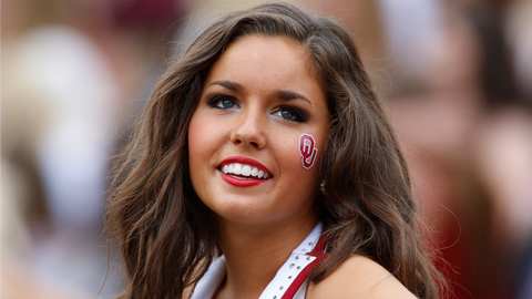 Big 12 football cheerleader